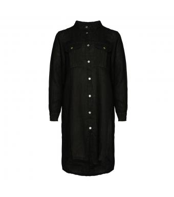 Tiffany Sophia Dress Linen, Black