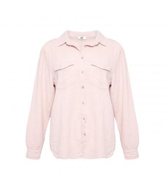 Tiffany Skjorta 181043 Double Cotton Rose