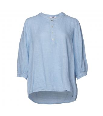 Tiffany Ebbi Top Linen, Light Blue