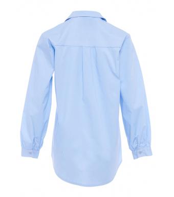 Tiffany Skjorta 191571 Elli Cotton Poplin Ljusblå