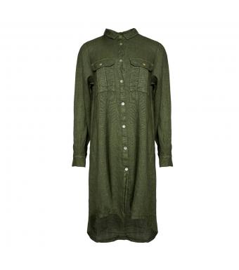 Tiffany Sophia Dress Linen, Army
