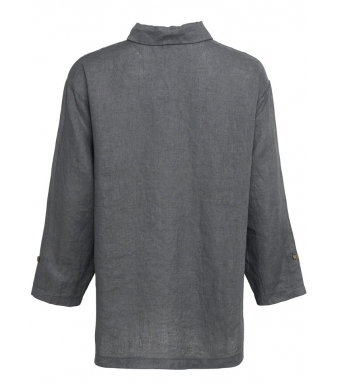 Tiffany Nimm Shirt Linen, Antracit Grey